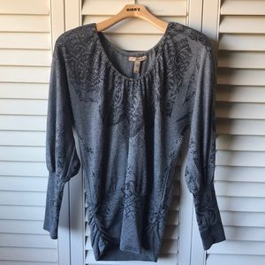 Gray Long Sleeve with Unique Design, Spandex End